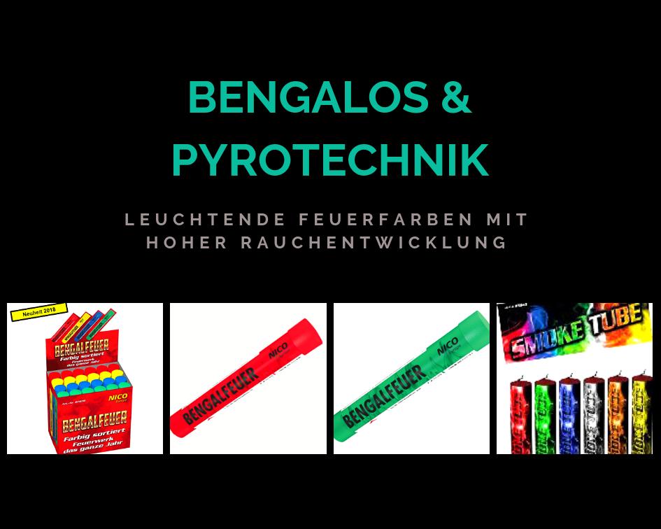 Bengalos & Pyrotechnik - Leuchtende Feuerfarben mit hoher rauchentwicklung