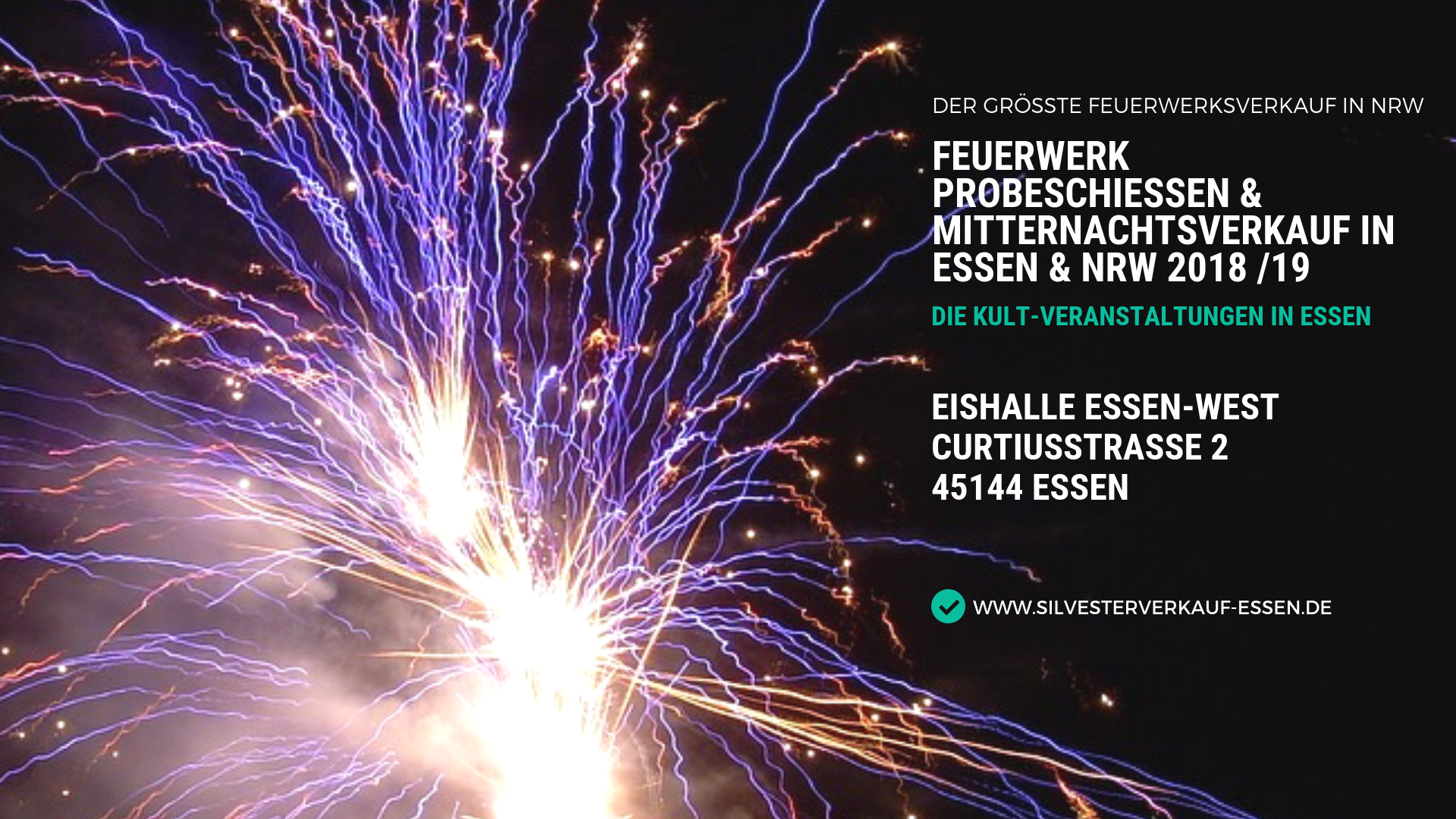 Feuerwerk Probeschießen & Mitternachtsverkauf in Essen & NRW 2018 19
